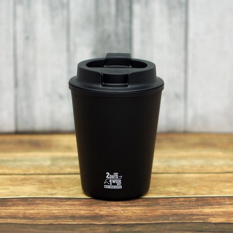 RIVERS ウォールマグ スリーク 350ml ブラック 【MUC COFFEE ROASTERS ロゴ】
