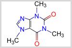 カフェインの分子構造