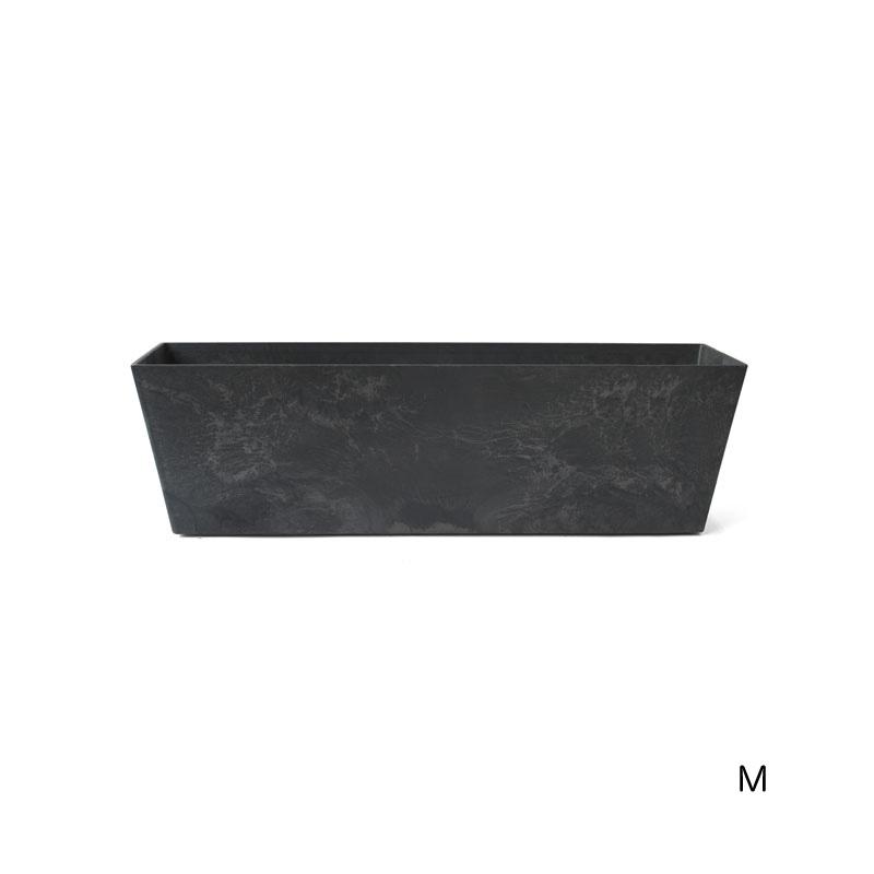 ART STONE CONTAINER SQUARE / Black