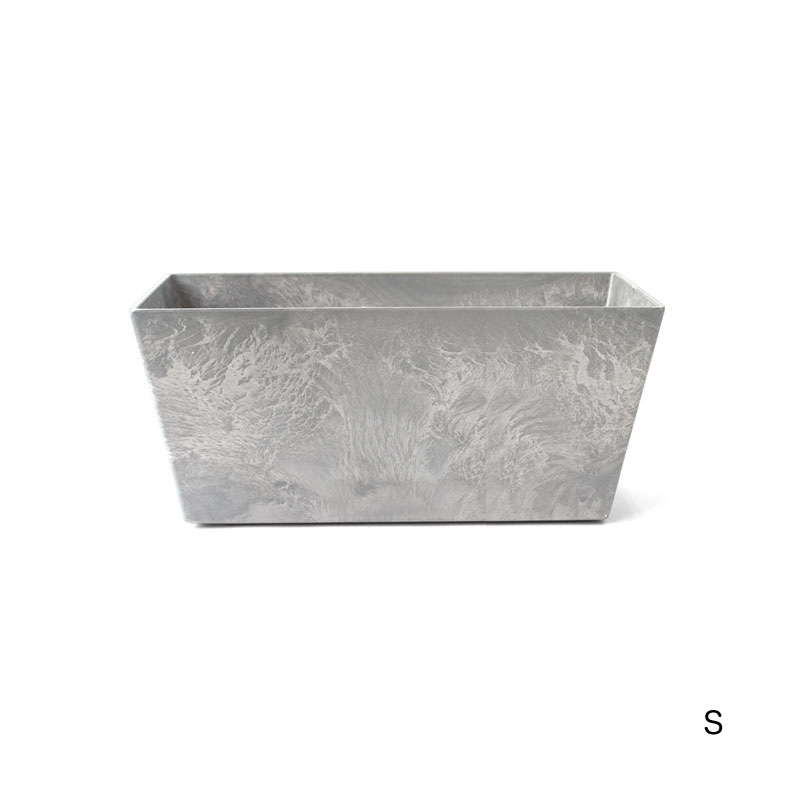 ART STONE CONTAINER SQUARE / Gray