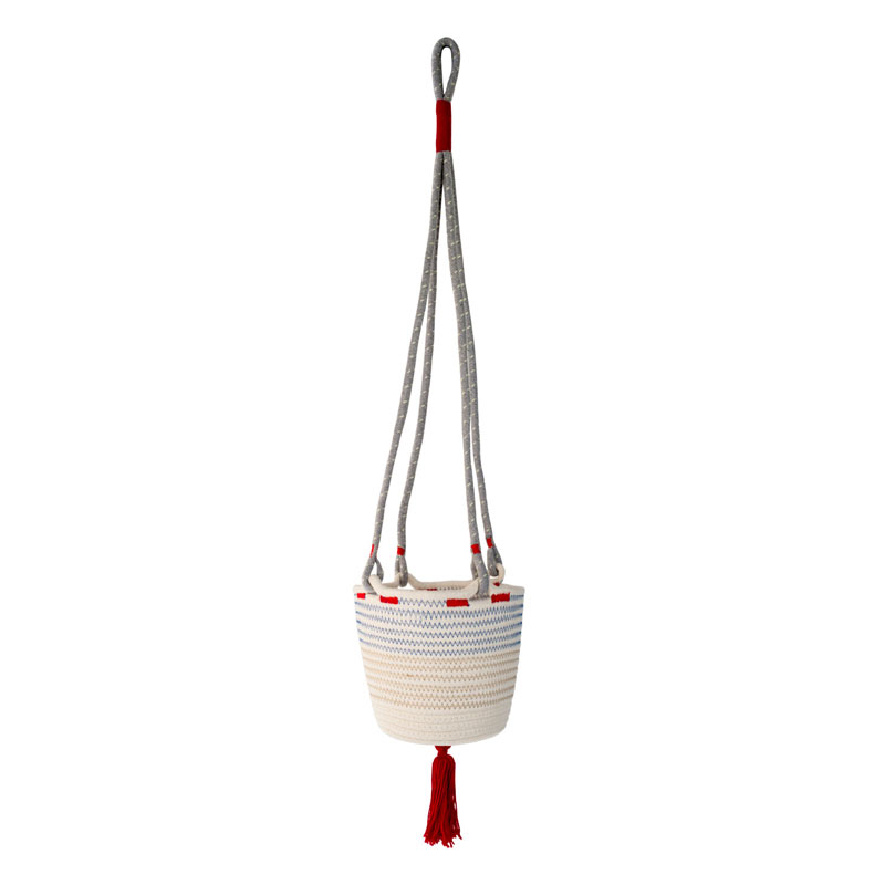 COTTON HANGING BASKET (Red)
