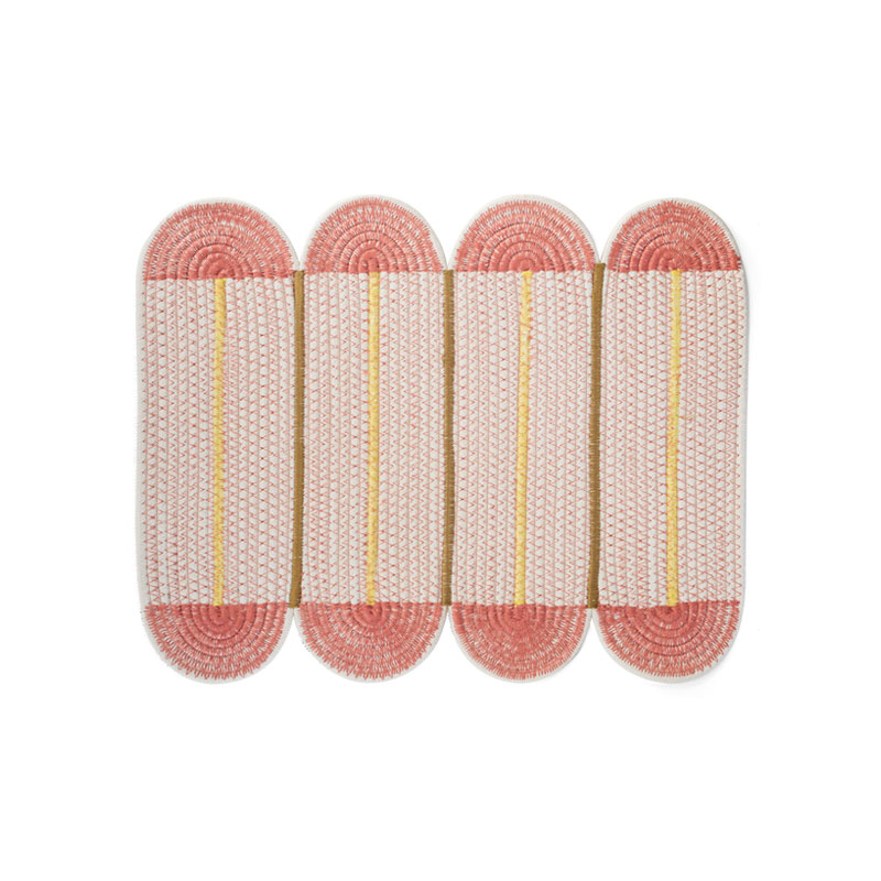 COTTON PLACE MAT 4Panel / Coral Pink