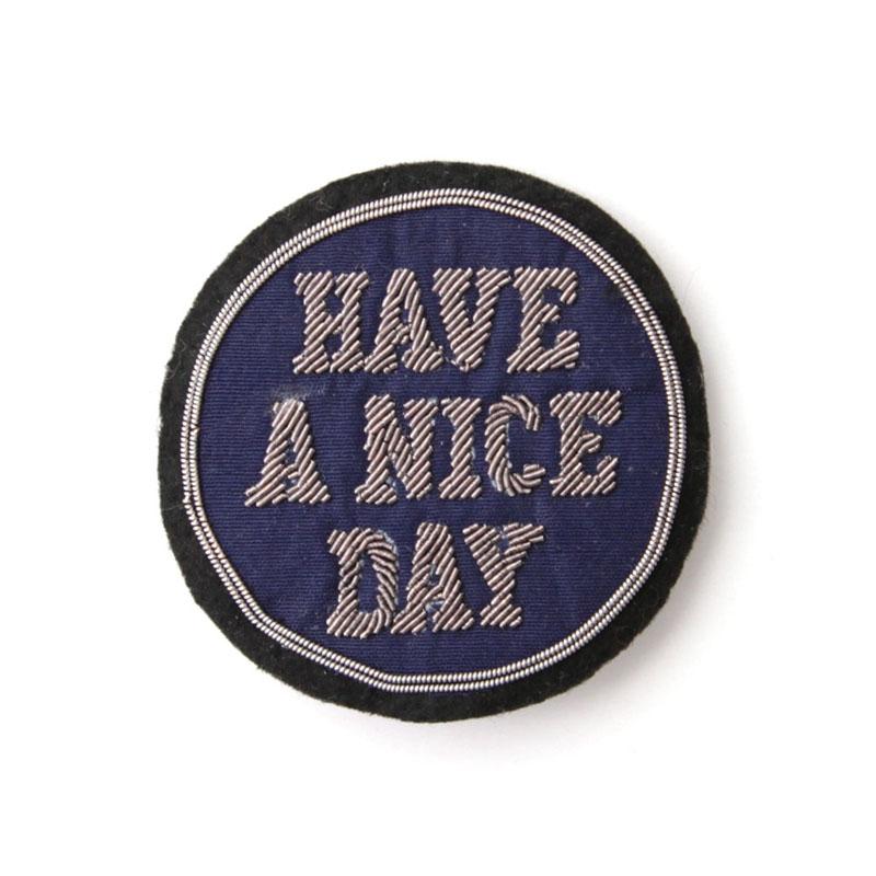 EMBLEM BADGE / HAVE A NICE DAY (Navy)