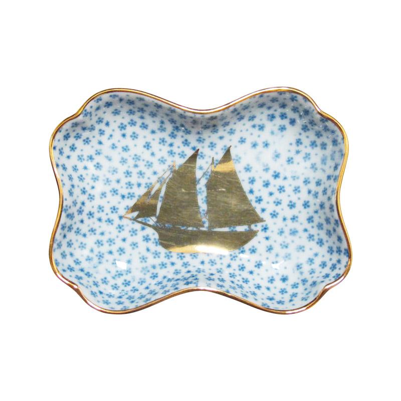 MAME 小紋糸巻形皿