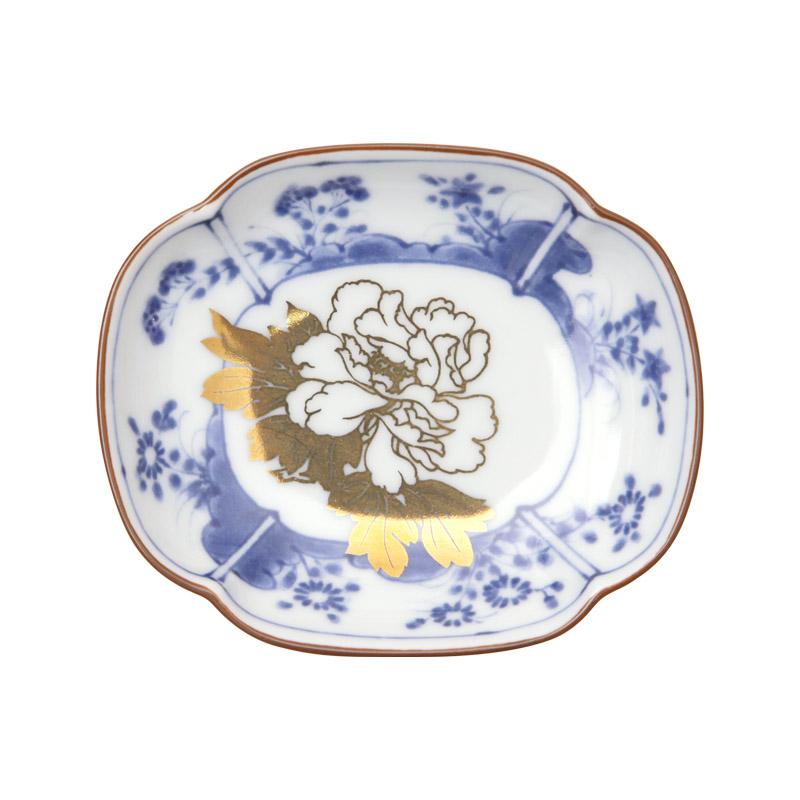 MAME 草花文木瓜形皿