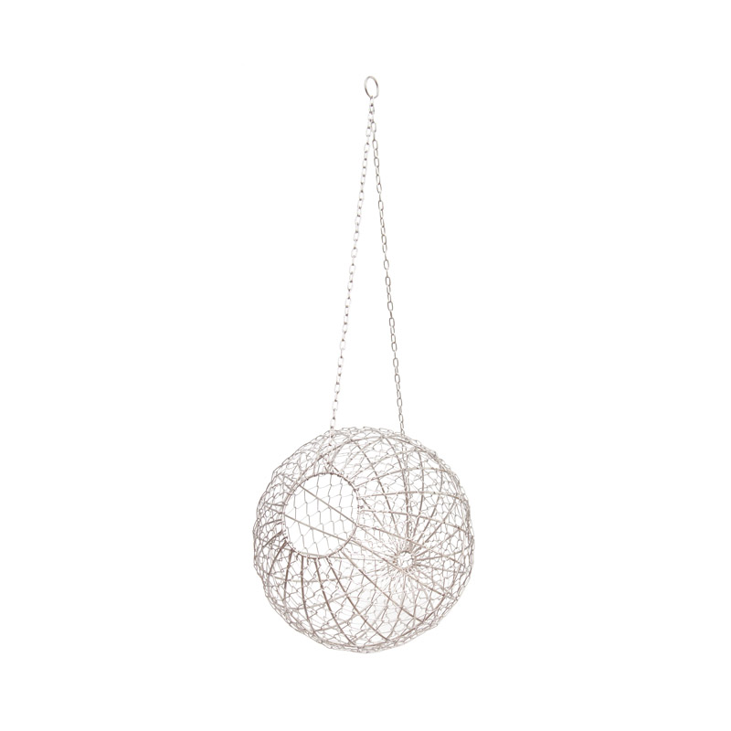 Wire Ball Hanging / Silver (M)