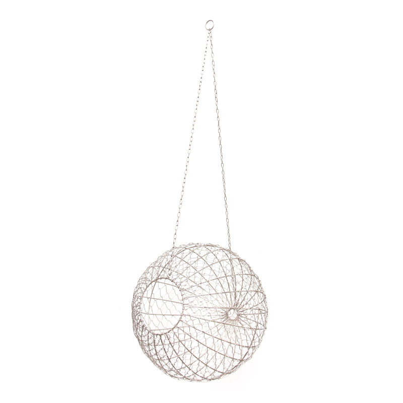 Wire Ball Hanging / Silver (L)