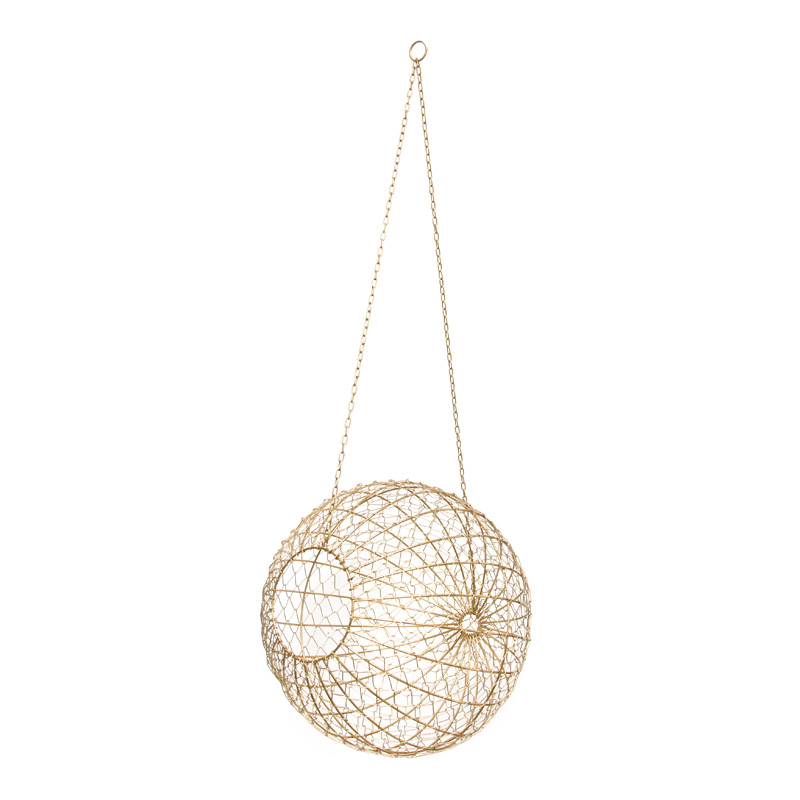 Wire Ball Hanging / Gold (L)
