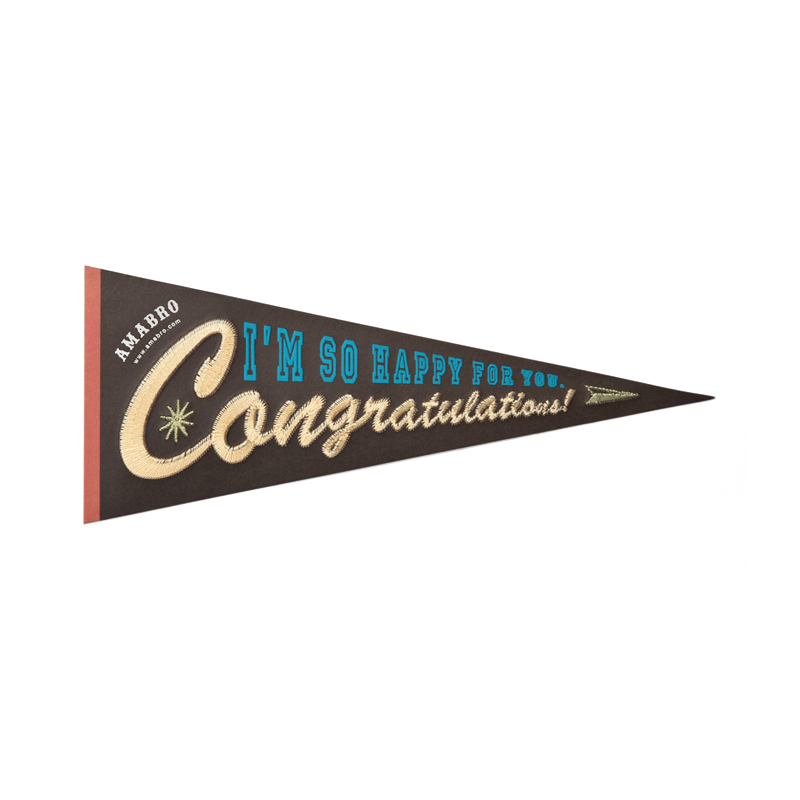 EMBROIDERY MESSAGE CARD -COLLEGE- / Congratulations
