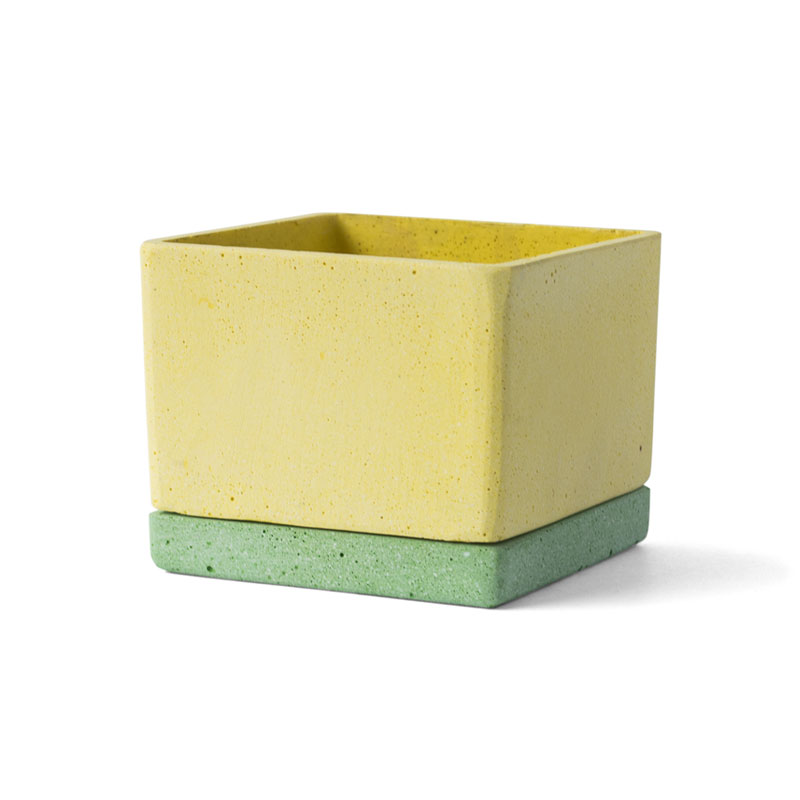 POLYSTONE POT / Yellow