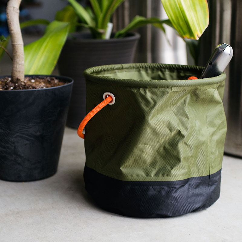 FOLDING BUCKET /  Khaki × Orange