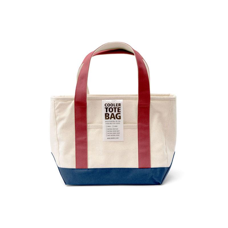 COOLER TOTE BAG / Red × Blue(S)