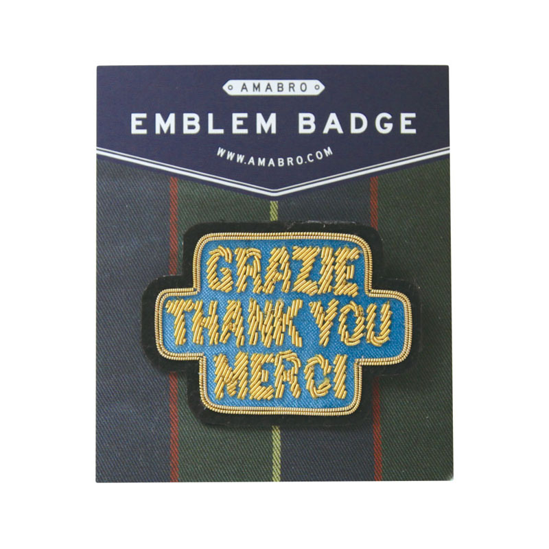 EMBLEM BADGE / THANK YOU (Blue)