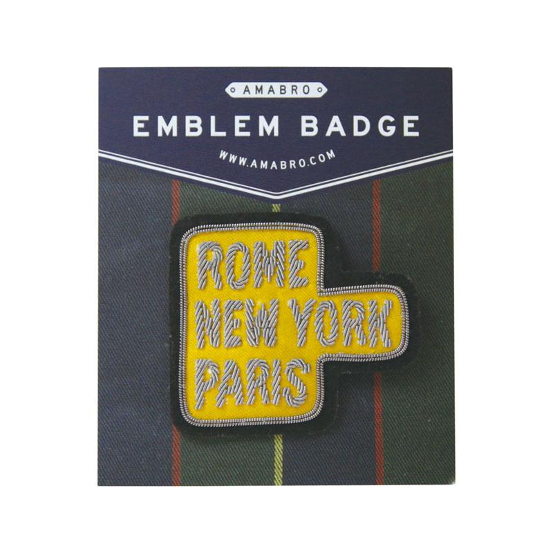 EMBLEM BADGE / CITY (Yellow)