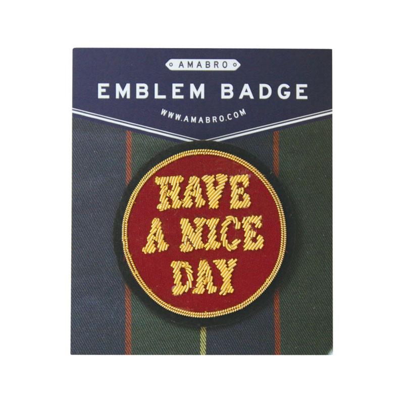 EMBLEM BADGE / HAVE A NICE DAY (Black)