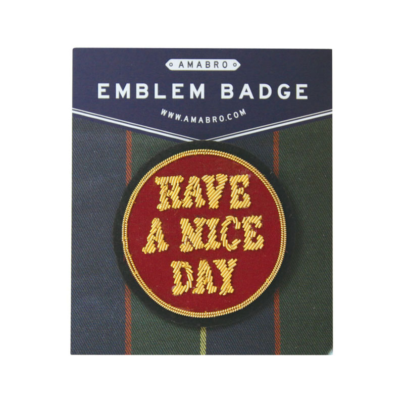 EMBLEM BADGE / HAVE A NICE DAY (Red)