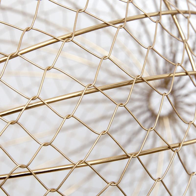Wire Ball Hanging / Gold (M)