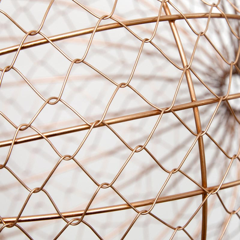 Wire Ball Hanging / Copper (L)
