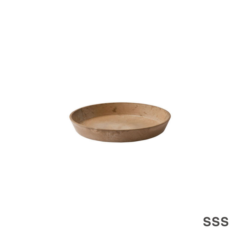 ART STONE SAUCER / Brown