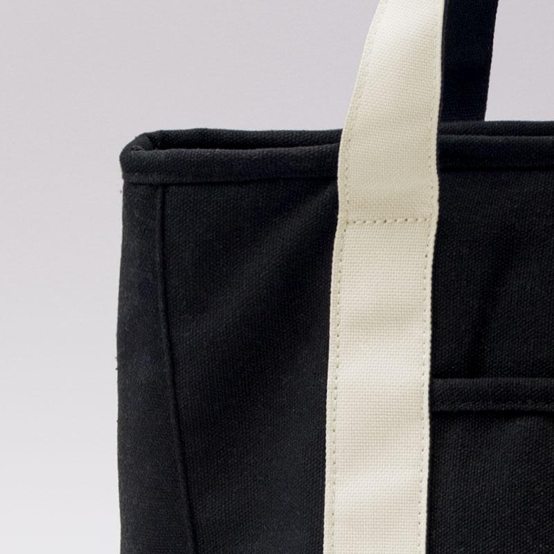 COOLER TOTE BAG / Black × Natural(L)