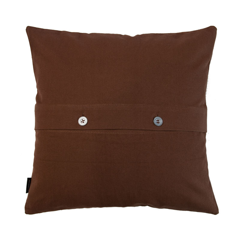 LEATHER CUSHION COVER / Brown