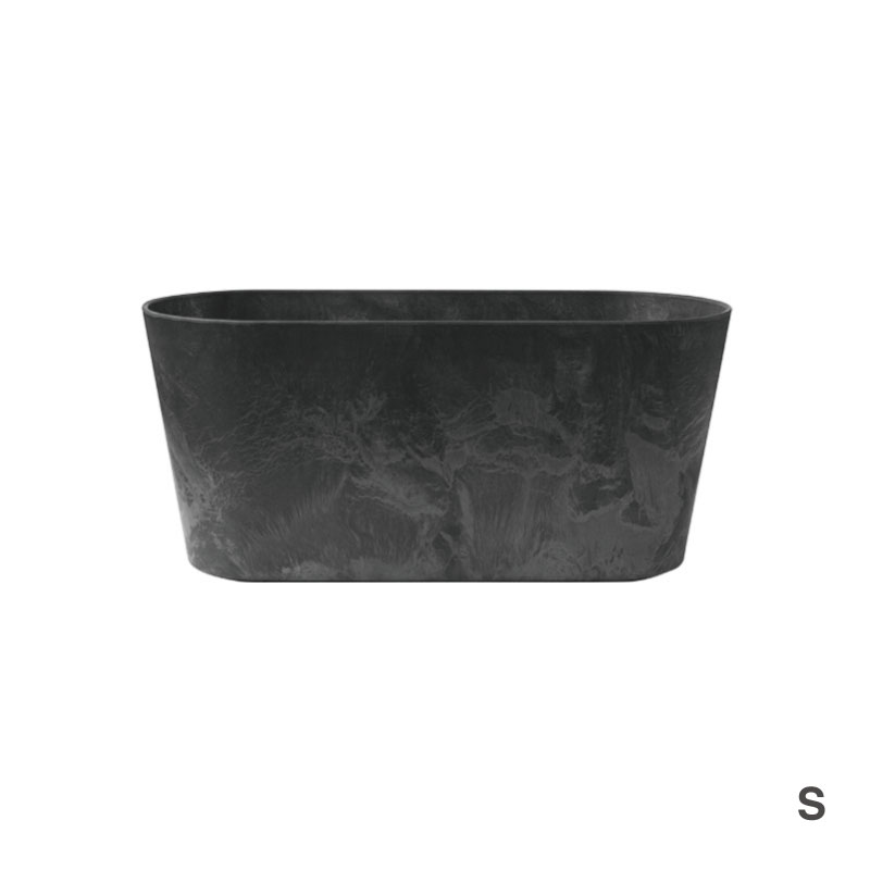 ART STONE CONTAINER ROUND / Black
