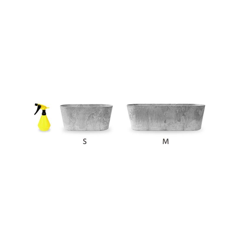 ART STONE CONTAINER ROUND / Gray