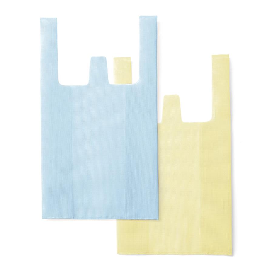 【amabro online  限定】CONVENI BAG / Light blue × Light yellow