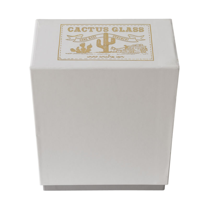 CACTUS GLASS ORNAMENT -clear- (S)Pillar
