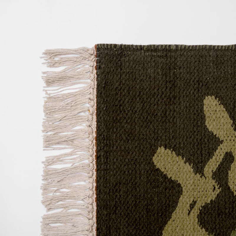 FOLK ART RUG / エントランス Rasen(Brown)