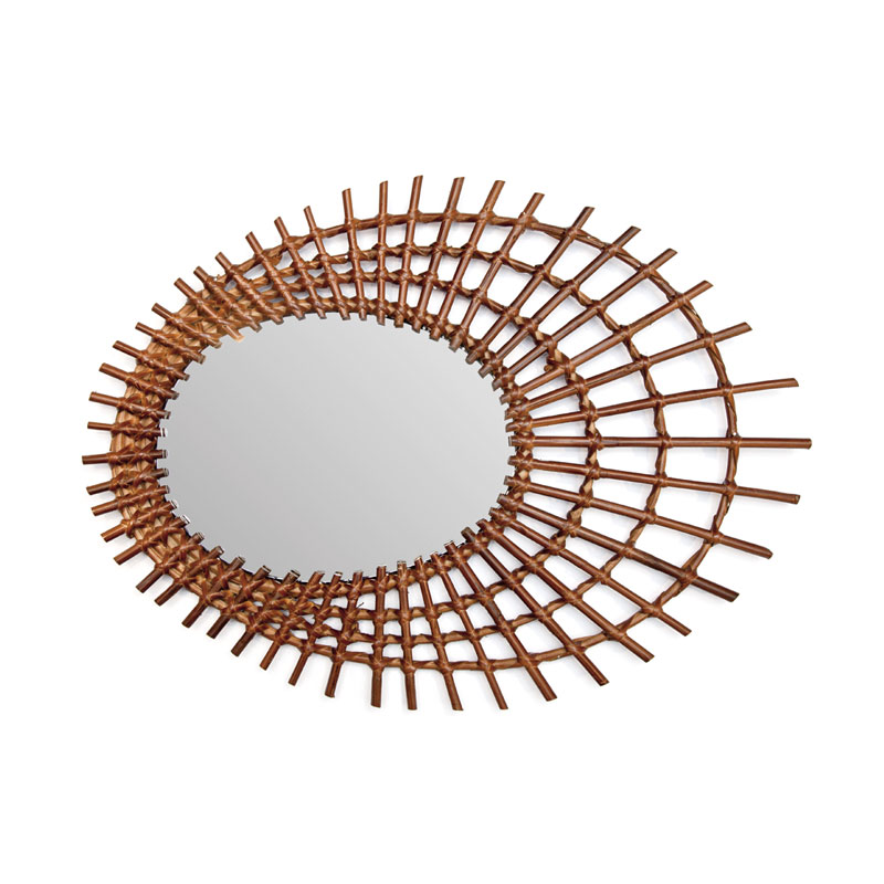 RATTAN MIRROR / Sen(Brown)