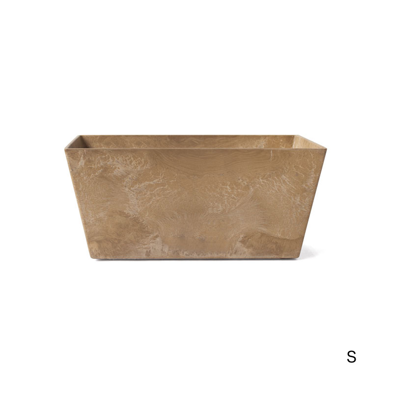 ART STONE CONTAINER SQUARE / Brown