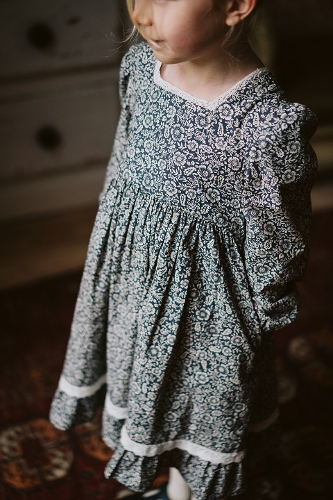 Isla dress paisley winter floral  21AW/無料ラッピング不可
