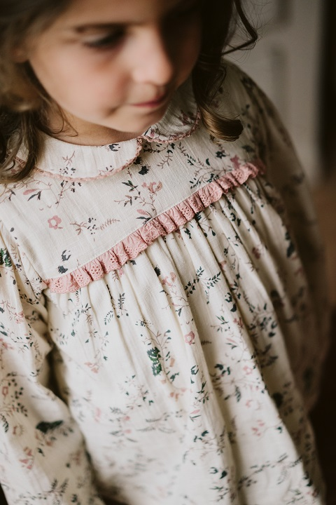 Emma blouse mallow floral  21AW/無料ラッピング不可