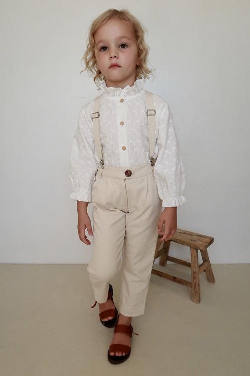 Jean Michel Tailored Suspender PANT 20SS/Naturel Ecru