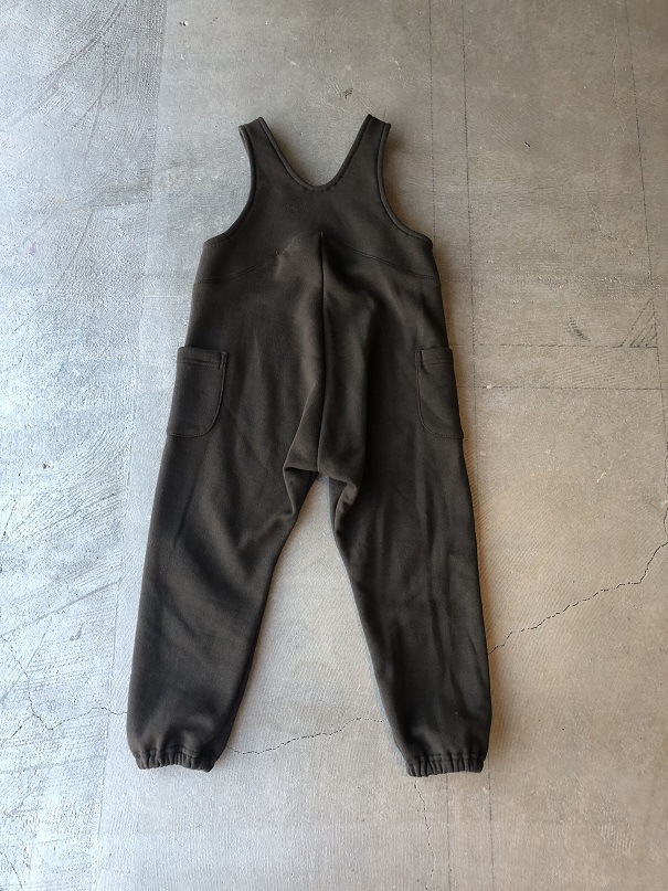 ●50%OFF スウェットサロペット/Brown 19AW