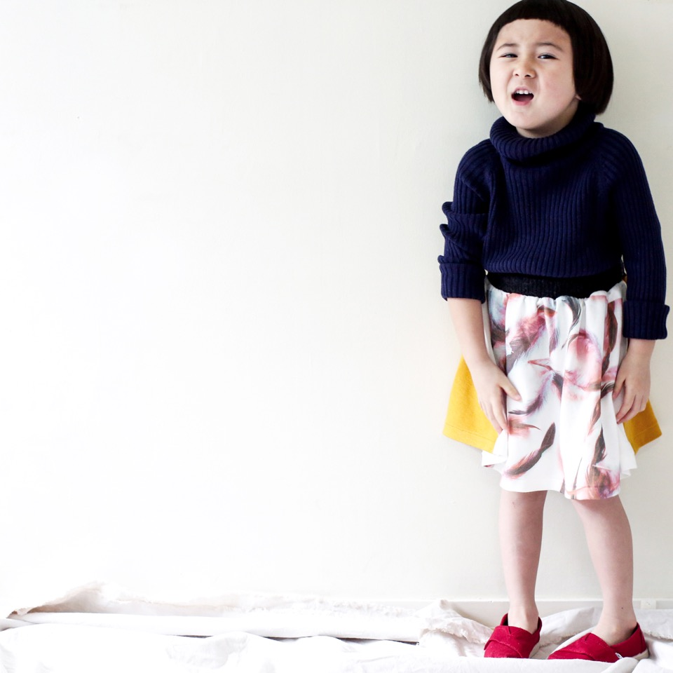 ★70%OFF★ michirico ミチリコ 2016AW Feather print skirt フェザープリントスカート
