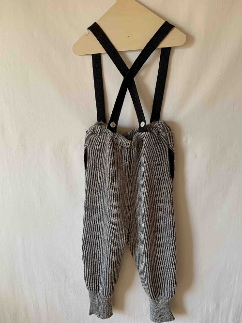 ●30%OFF rib stitch suspenders pants 20AW/charcoalgray※ゆうパケット配送不可