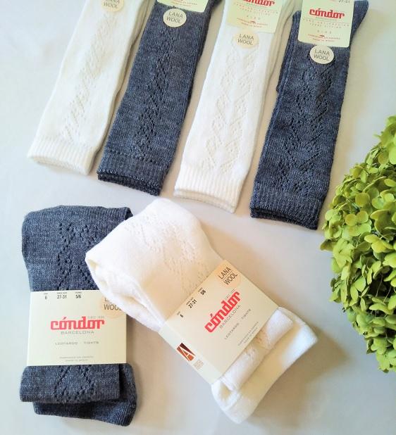 Wool openwork knee-hight socks ウールオープンワークニーハイソックス1526