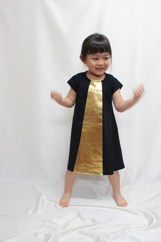 ★70%OFF★ MOTORETAモトレタ 17SS SOL DRESS Black&golden