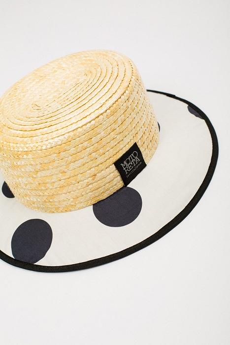 ●60%OFF NCANOTIER 19SS/ atural straw & Polka dot white