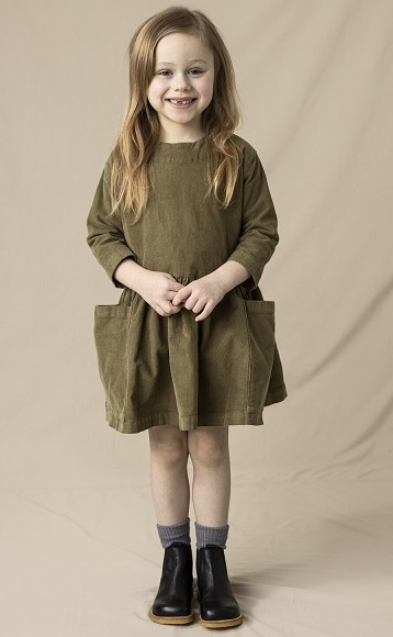 POCKET DRESS 20AW/ olive