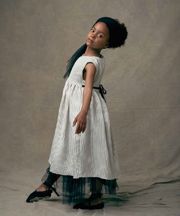 ●60%OFF Little creative factory 18SS Tap Smock Dress/WHITE