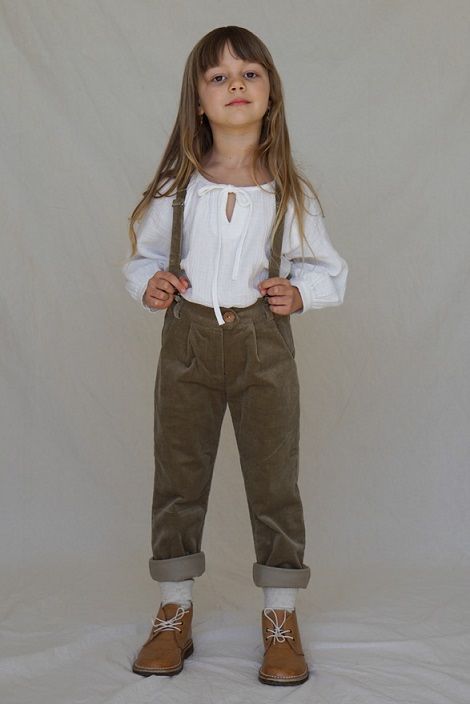 Jean Michel Tailored Suspender PANT 20AW/Caper Chord