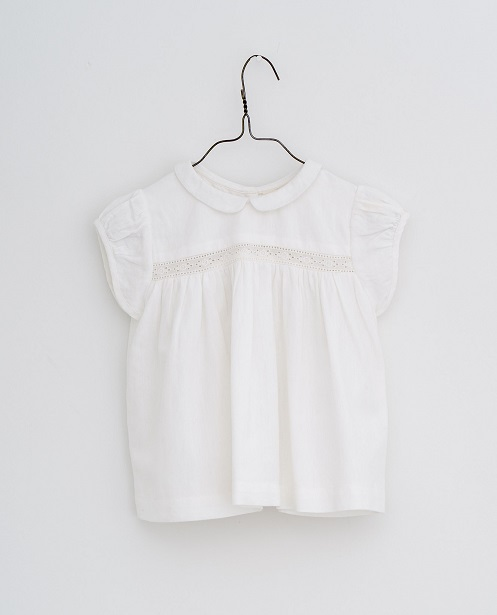 Juno blouse lacy off-white cottonlinen 21SS ※無料ラッピング不可