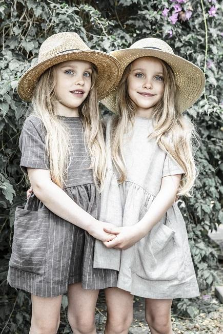 ●40%OFF Pocket dress short sleeve/BrownPinstripe/Beige 19SS