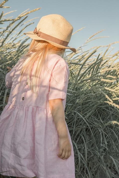 ●30%OFF POCKET DRESS 21SS/ Pink linen