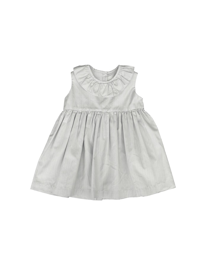 ●30%OFF Sleeveless ruffleneck dress/light beige 20SS