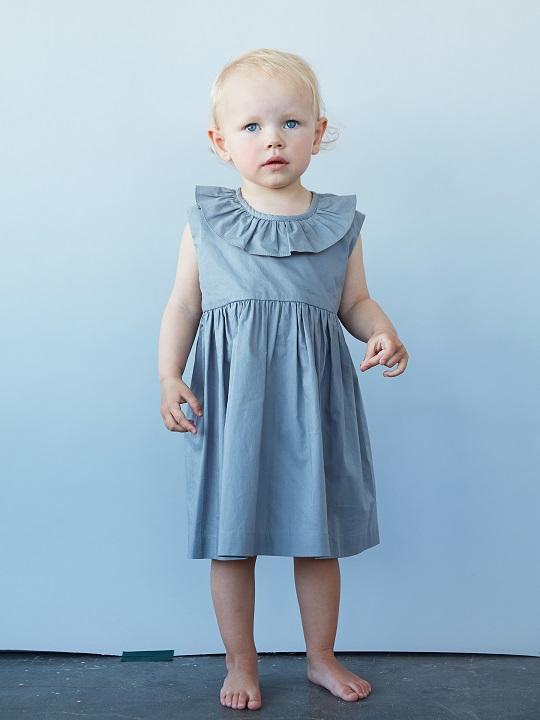 ●40%OFF Sleeveless ruffleneck dress/grey 20SS