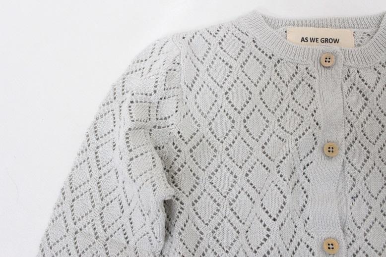 ●30%OFF Diamond cardigan/grey 19SS